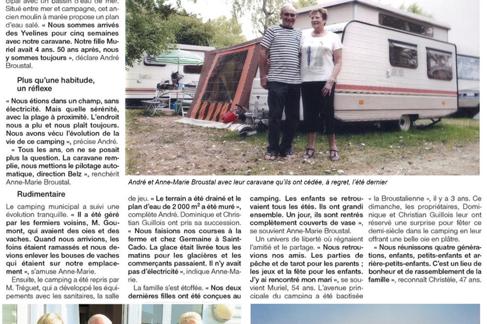 Newspaper Ouest-France from Friday 28 July 2017 et le Moulin des Oies